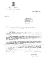 Lettera al Sindaco che preannuncia il finanziamento